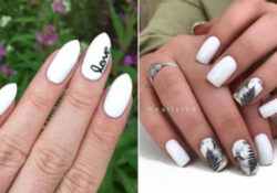21 Short White Nails That Go With Any Outfit