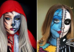 23 Half Face Halloween Makeup Ideas
