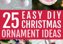 25 Simple & Beautiful DIY Christmas Ornaments That You'll Love