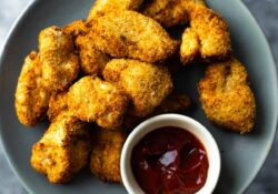 Air Fryer Chicken Nuggets | sweetpeasandsaffron.com