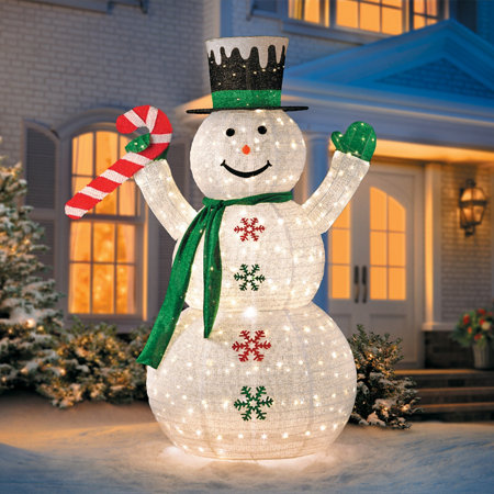 DIY Light Up Snowman Christmas Outdoor Decorations