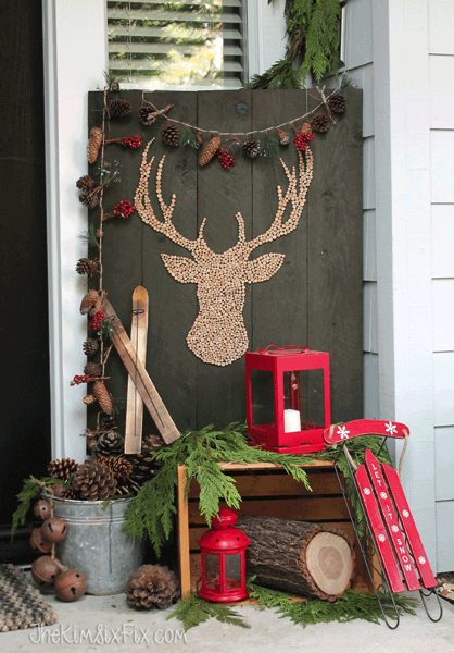 DIY Christmas Reindeer Decor For Outdoors