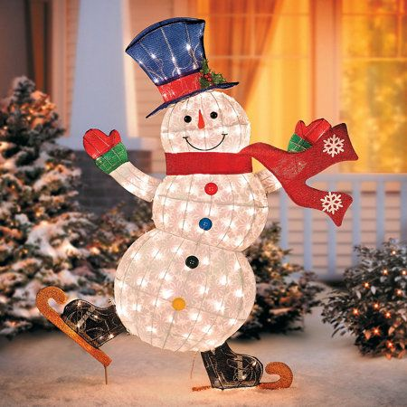 Outdoor Christmas Decor: Snowman Outdoor Decorations