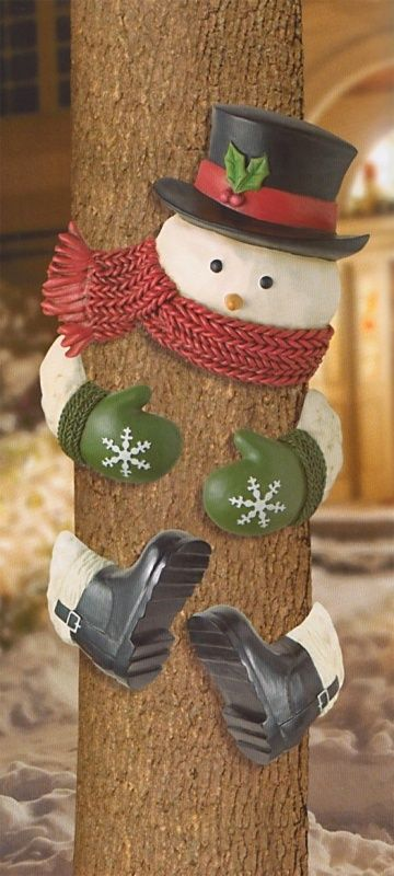Cute Snowman Tree Decoration For Outdoors