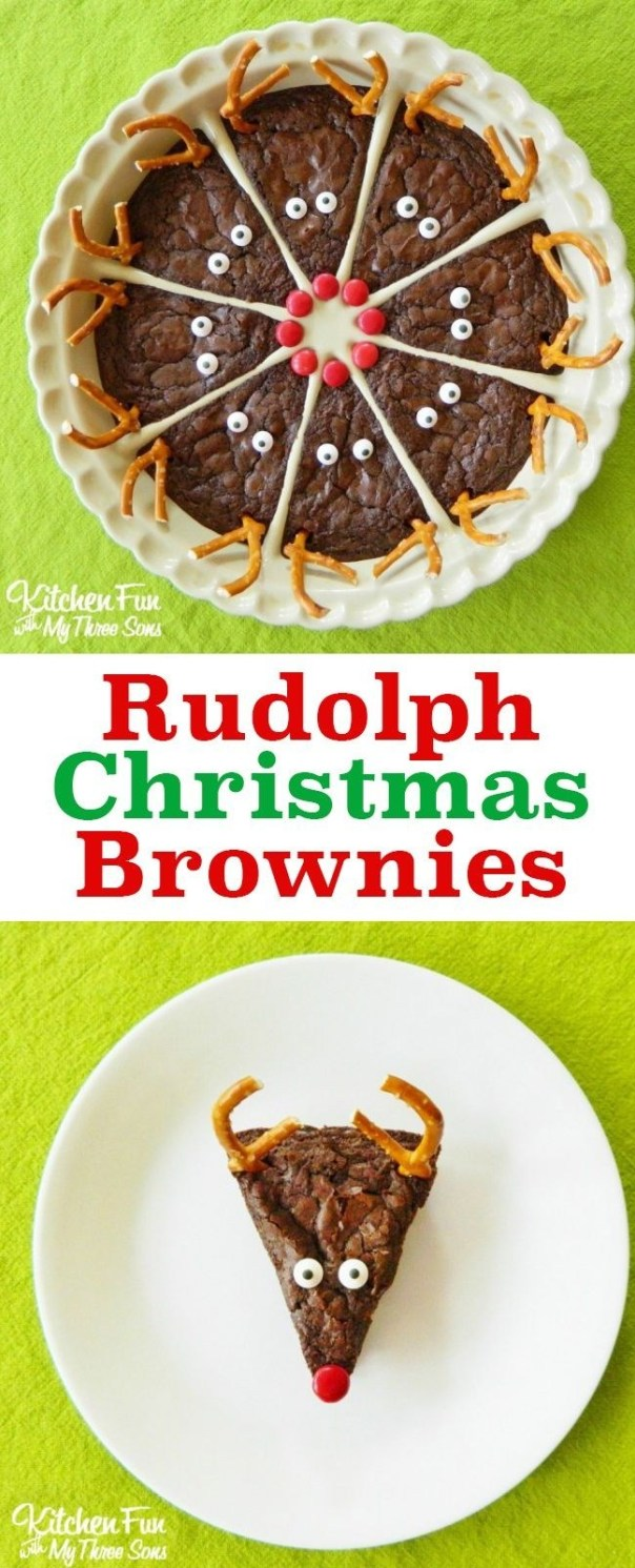 Rudolph Christmas Brownies