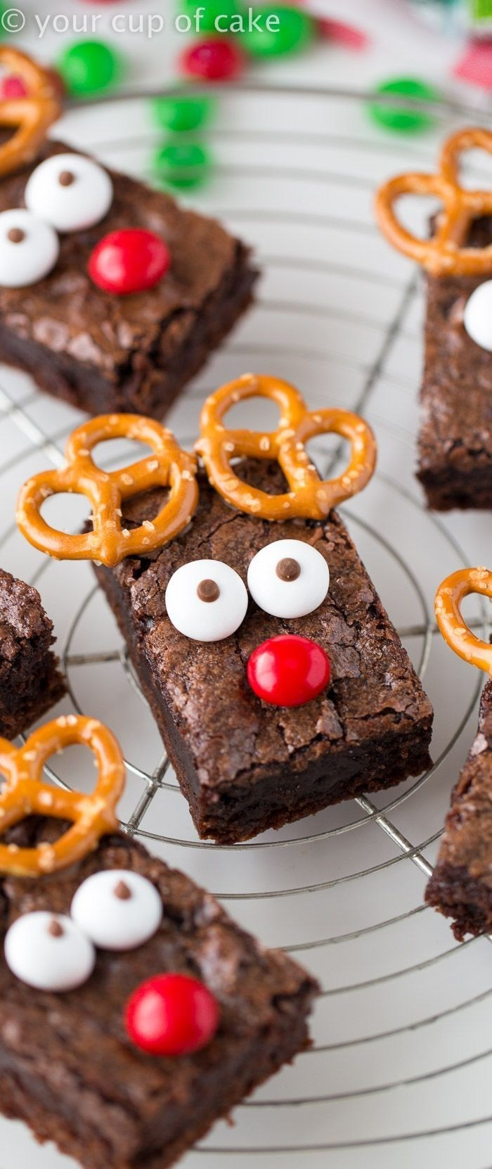 Best Christmas desserts: Rudolph The Red Nose Reindeer Brownies