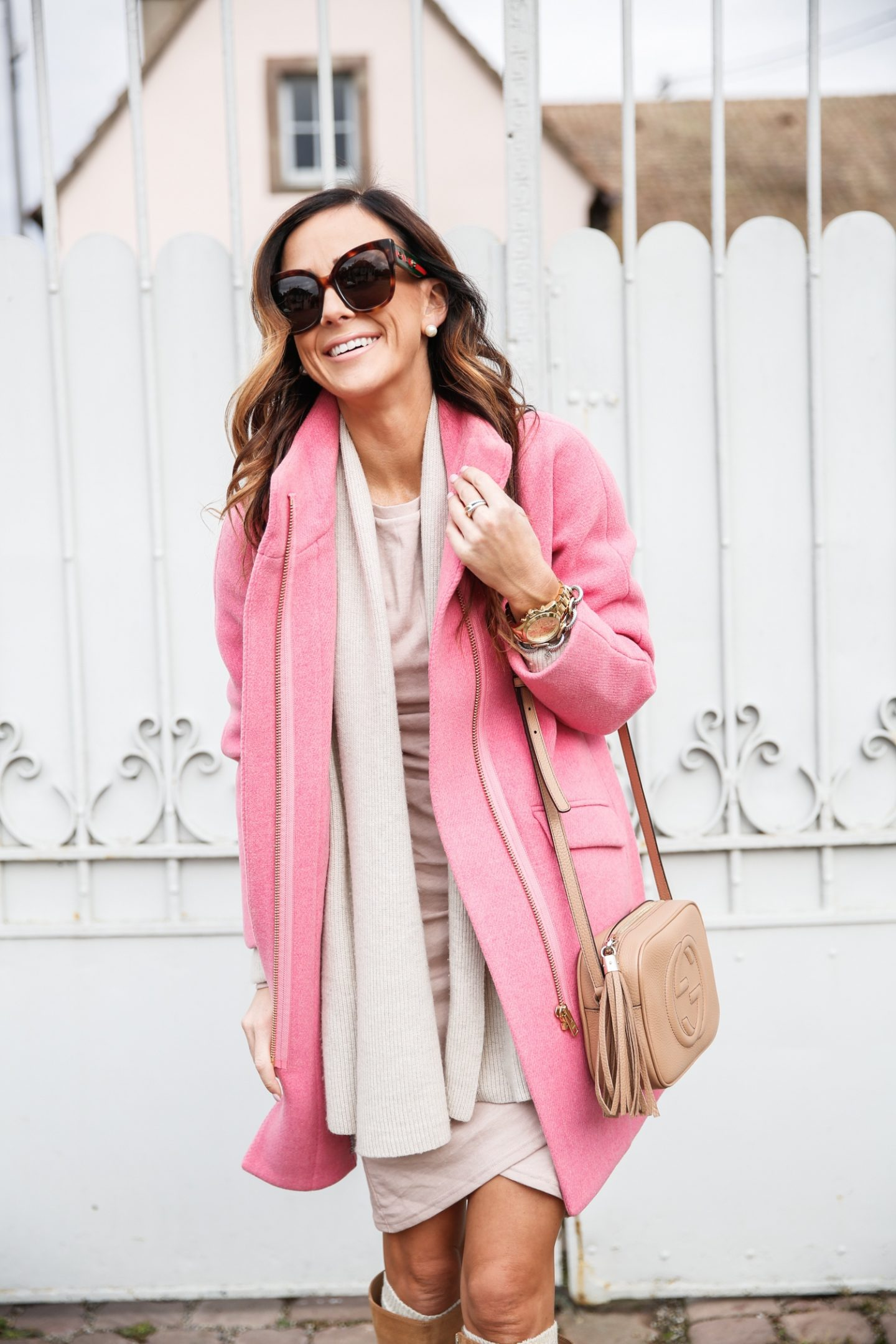 Best pink coat outfits for fall
