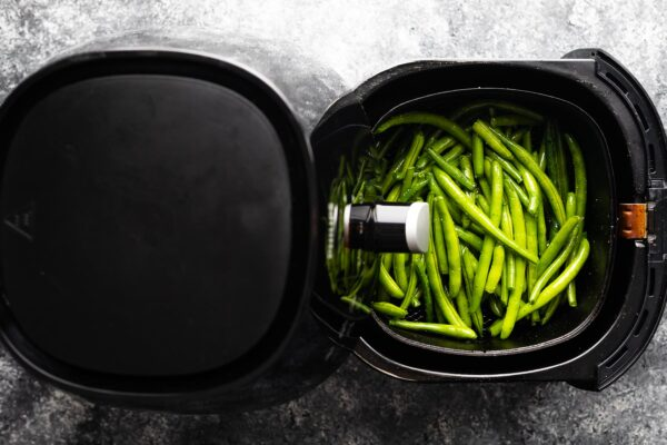 green beans in the air fryer before cooking
