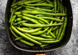 Air Fryer Green Beans (tender + crisp!)