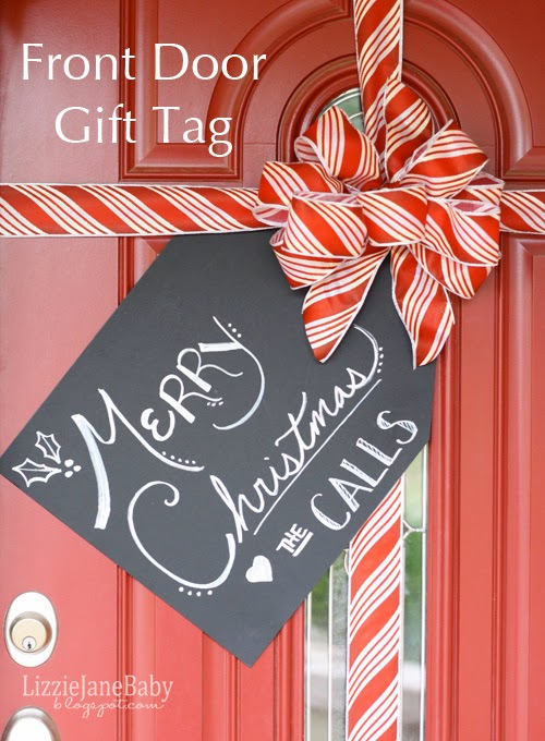 DIY Front Door Christmas Gift Tag Craft For Adults