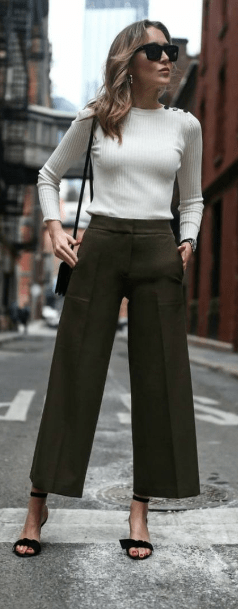 Chic work looks with sweaters and pants