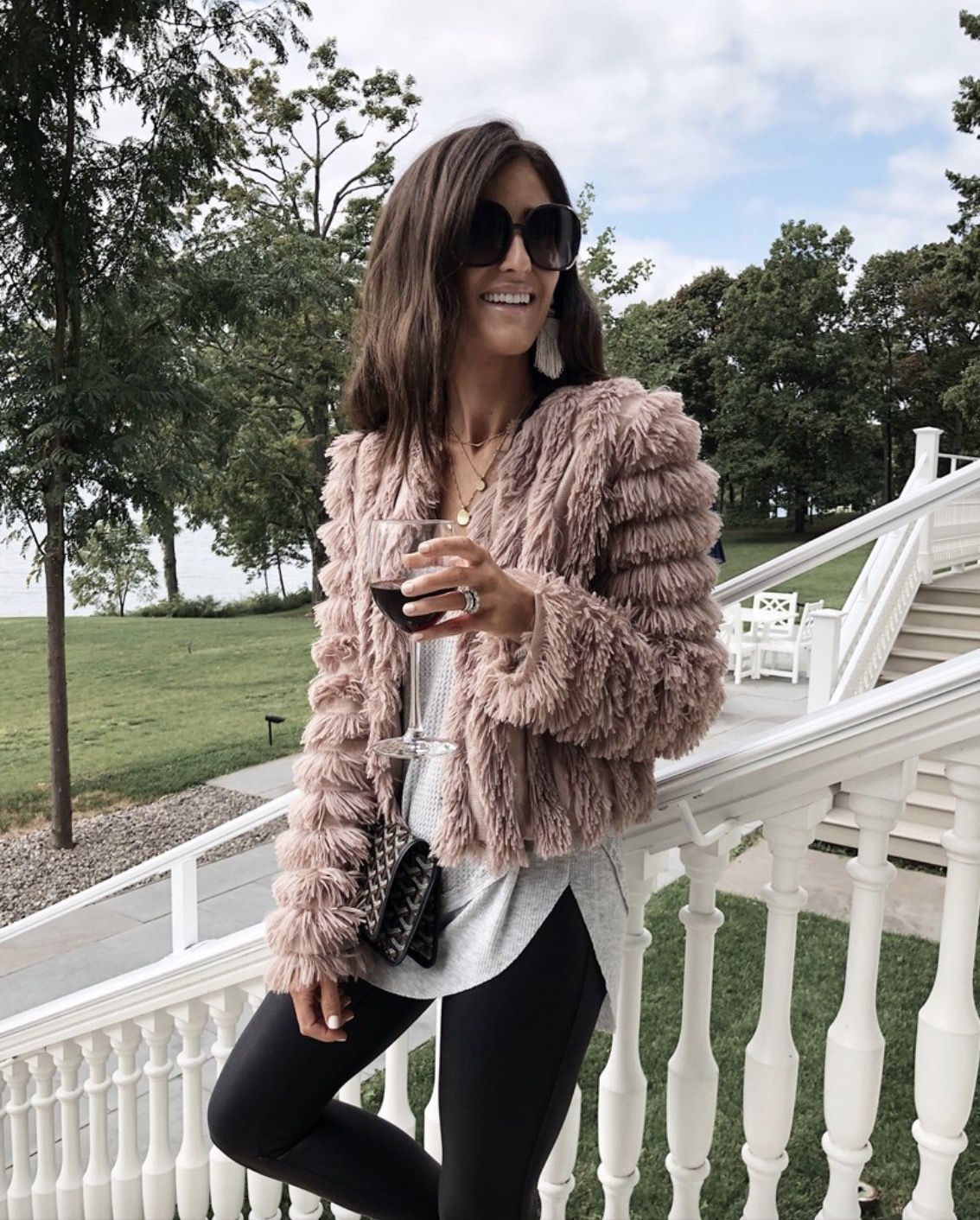 Best shaggy coat outfits for fall