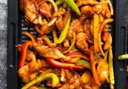 Fajita de pollo Air Fryer | sweetpeasandsaffron.com